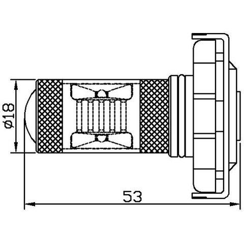 Протитуманна LED лампа UP-7G-H16WB-30W(EU) (біла, 12-24 В) Прев'ю 1