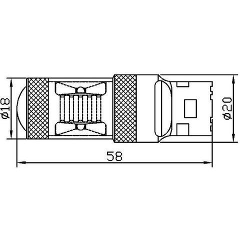 LED лампа гальмування UP-7G-T20DWB-30W(7443) (біла, 12-24 В) Прев'ю 2