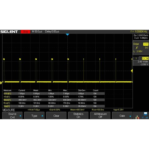 Фосфорний цифровий осцилограф SIGLENT SDS2304X Прев'ю 11