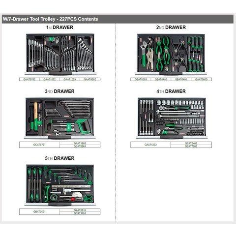 Візок з набором інструментів TOPTUL GCAJ0012 Прев'ю 1