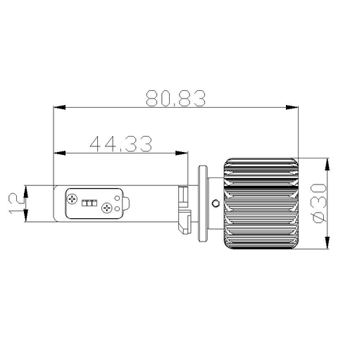 Car LED Headlamp Kit UP-7HL-880W-4000Lm (880, 4000 lm, cold white) Preview 1